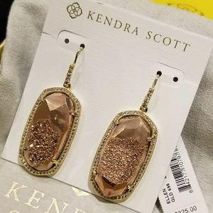 NWT RARE LUXE Kendra Scott Druzy Ellen Earrings